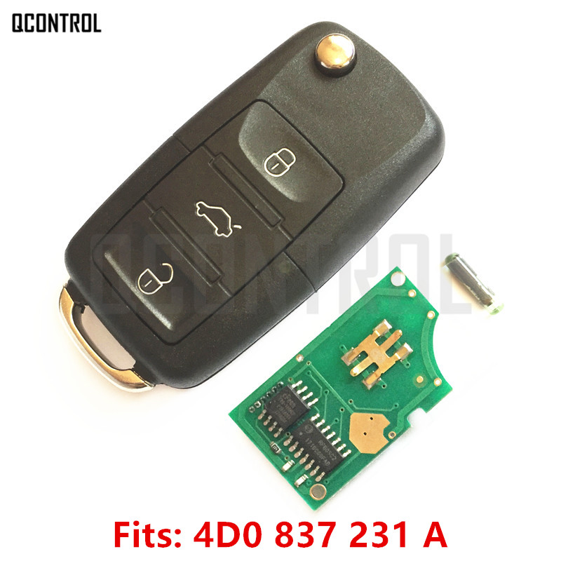 QCONTROL Car Remote Key for AUDI A3 A4 A6 A8 RS4 TT Allroad Quttro RS4 1994 - 2004 4D0 837 231 A / 4D0837231A(China)
