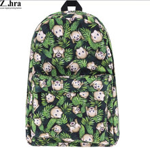 Hot Sale Female Backpack Lady Fashion Backbags Cute Animal School Bags For Teenager Girls Bag Free Shipping