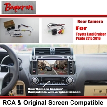 For Toyota Land Cruiser Prado 2015 2016 / RCA & Original Screen Compatible Rear View Camera / Back Up Reverse Camera Sets