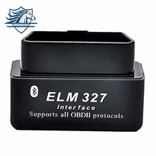 Super Bluetooth MINI ELM327 Wholesales Latest New ELM 327 V1.5 OBD2 /OBDII Black Car Code Scanner Tool FREE SHIPPING