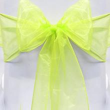1Pc 18*275cm Sweet Chair Cover Organza Sashes Bow Wedding Party Tie Ribbon Chair Back Decoration