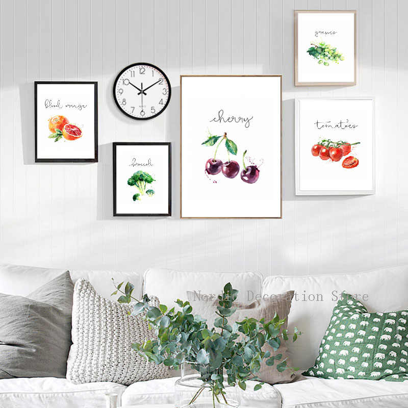 Deco Cuisine Nordic Poster Fruits Vegetables Posters And Prints Canvas  Painting Wall Pictures Home Deco Canvas