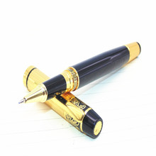 You 901 Black Gold Stainless Medium Nib Rollerball Pen Business office, daily affairs, students learn professional pen(China)