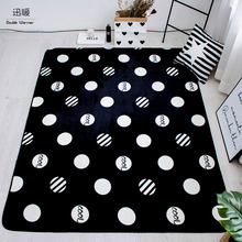 Euro Collection Geometric Patterns Area Rug Rugs Slip Skid Resistant Rubber Backing Machine Washable More Colors Options 3 sizes(China)
