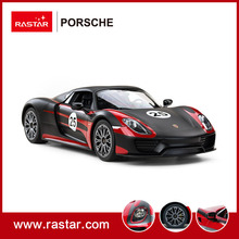 Rastar 1:14 Scale PORSCHE 918 Spyder Performance Micro RC Car Body Toy Car with USB charger for Big Kids 70770(China)