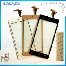 RUBINZHI Mobile Phone Touch Panel Lens Touch Screen Sensor For BQ BQS-5050 BQS 5050 Touchscreen Front Glass Digitizer Parts+tape(China)