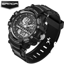 SANDA Military Sport Watch Men Top Brand Luxury Famous Electronic LED Digital Wrist Watch For Men Male Clock Relogio Masculino