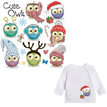 Cute Owls Iron on Patches Transfers for Clothing Patches Coat Decor DIY  Accessories Thermal Transfer Washable Sequin Applique f8ccceded20f