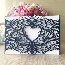 30pcs/lot 2017 china paper craft laser cut 250gsm pearl paper wedding party decoration invitation card heart greeting