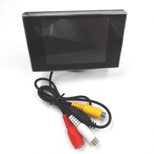 New 3.5 Hign Definition Digital Color Car Backup Monitor TFT LCD Rearview Monitor for DVD Reversing Camera(China)
