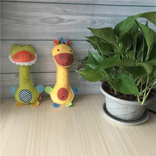 HOT 22cm Baby Rattles crocodile Mobiles Cute Donkey Hand BB Stick ring bell Infant Baby Crib Toy Plush kids Bed Soft Play Doll(China)