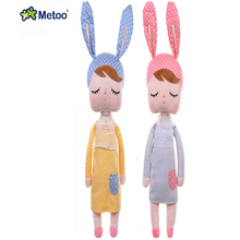Metoo Rabbit Doll Bunny Plush Catoon Soft Toys Stuffed Animals Panda Bee Dolls for Girls Baby Stuffed & Plush Animal Kids Toy F5(China)