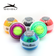 12000 RPMS Gyroscope PowerBall Gyro Power Ball Wrist Arm Exercise Strengthener LED Force Ball with Speed Meter Counter 7Colors