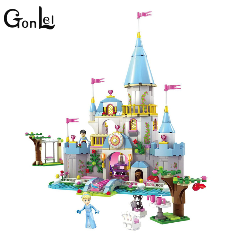 GonLeI 2016 latest Girl Friends SY325 669pcs Disni Princess Cinderellas Romantic Castle and Cinderella tower s building block<br>