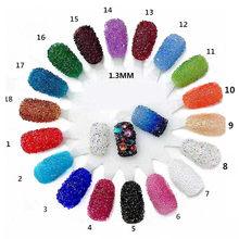 1400pcs bag 1.2mm Zircon Rhinestones Micro Conical Rhinestone Mini Nail Art  Rhinestone Nail Decorations d5b77588029b