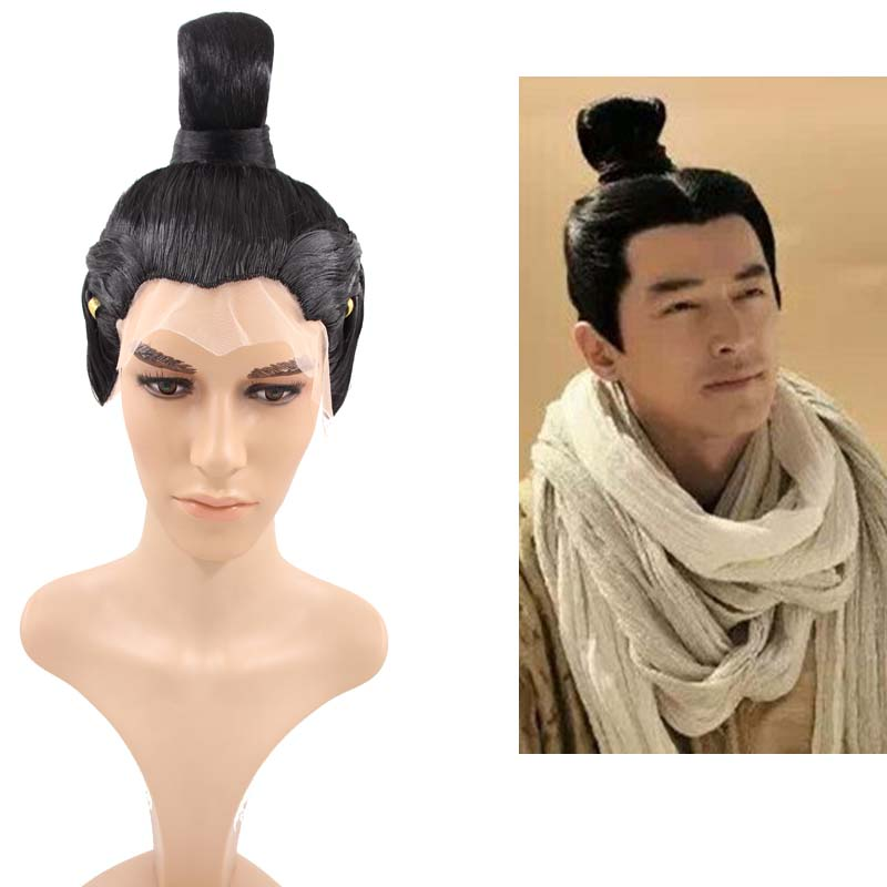Chinese Ancient Swordsman cosplay accessories shaped vintage hair for prince masquerade party supplies carnival favors
