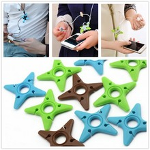 Ninja Darts Star Key Cord Winder Cable Tie for phone Headphone Earphone Headset Wrap Reel Earbuds Holder Manager Organizer 10PCS