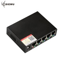 DIEWU-5 Ports Ethernet Switch Board Network Monitoring Camera Wireless AP Power Supply Lightning Protective