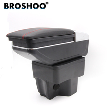 BROSHOO Auto Armrest Box Central Storage Content Box Products For Kia K2 Interior Armrest Storage Center Console Car Accessories