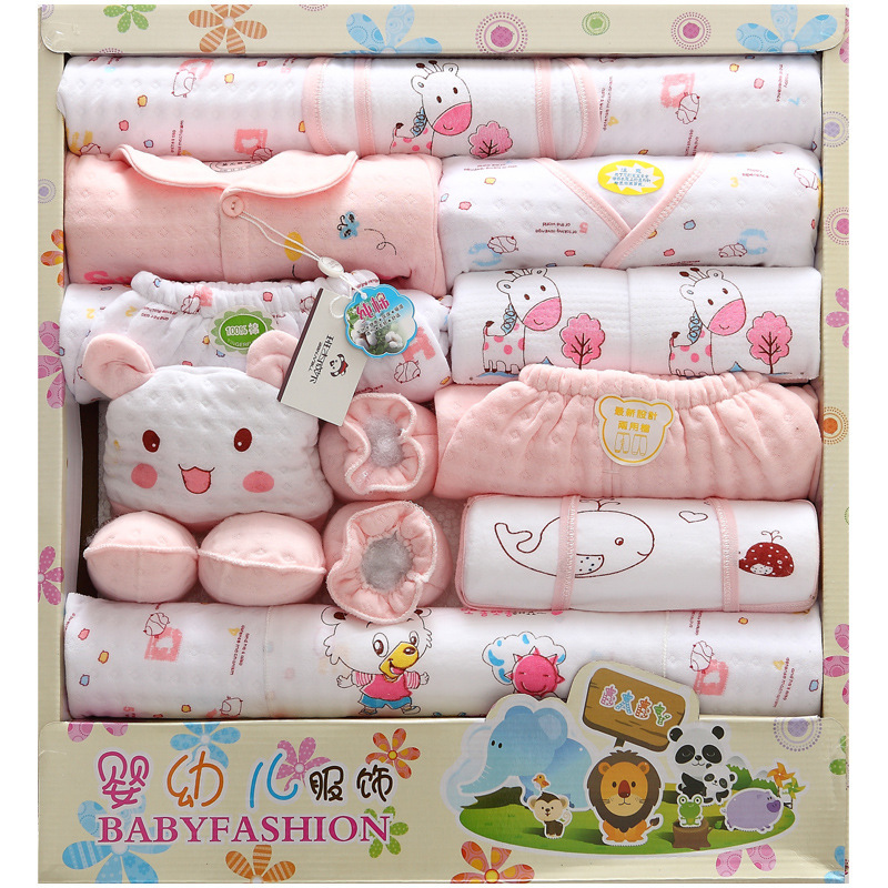 2015 Winter newborn baby gift clothes infant baby boys girls clothing set 100% cutton 18Pcs/set high quality, Free shipping<br><br>Aliexpress