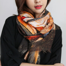 winter female Korea style female cotton printing fashion new multi-function long scarf, nice women scarf(China)