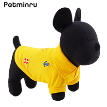 Petminru Pet Dog Summer Polo Shirt Costume Spring Summer Autumn Dog Clothes Lovely Clothing Pet Cat Dogs Shirt(China)