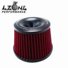 LZONE RACING - Universal Racing Car Air Filter Air Intake With Aluminum Adapter Neck:76mm JR-AIT32(China)
