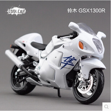 Suzuki GSX1300R Hayabusa speed King Maisto 1:12 motorcycle simulation alloy car model white Toy  free shipping