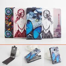 High Quality Pattern Leather wallet flip Case FLY IQ434 Leather Case Flip Cover for FLY IQ434 Case Phone Cover Free Ship.