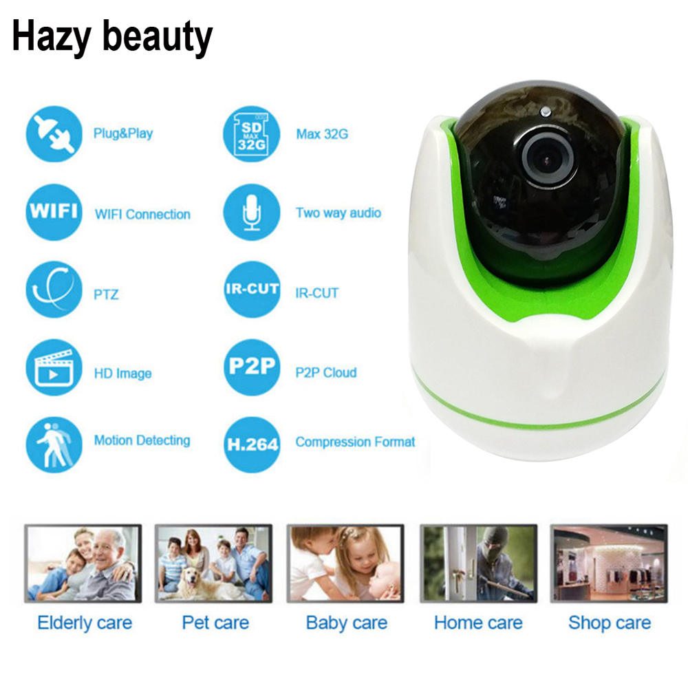 Hazy beauty IP Camera 1MP 960P WiFi Wireless IP Camera CCTV Security Camera Two Way Audio Baby Monitor Easy QR CODE Scan Connect<br>