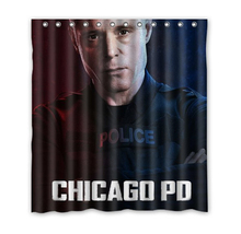 2014 Hot Sale Custom Chicago P.D 02 Fashion Home Living Waterproof Bathroom Decor Shower Curtain 150x180cm Christmas Gift U20-57