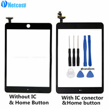 Netcosy For ipad mini 1/2 Touchscreen Black/White Touch Screen Digitizer panel repair For ipad mini 1/2 touch panel & Tools(China)