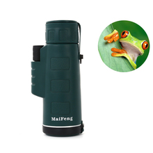 2017 Monocular Telescope 40 x 60 Binoculars Zooming Focus Green Film Binoculo Optical Outdoor Hunting High Quality Tourism Scope