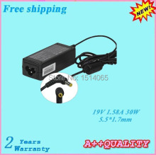 Hot sale 19V 1.58A 30W Replacement Adapter For DELL Mini 9 Mini 10 12 Laprop Adapter  5.5*1.7mm