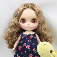 ICY Toy Gift Free shipping 30cm doll 1/6 fat doll wavy mix hair centre parting Cute Plump Lady Factory Blyth 0623/0538