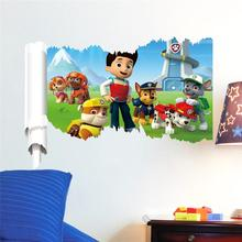 3d movie wall stickers room decorations 1462. diy adesivos de paredes home decals animal mural art print cartoon poster 3.5