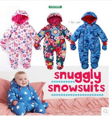 JiangYXB14 New 2017 Winter Baby Girls Jamper Snowing Wear Boy Snowsuit Blue Star Multi Flower Infant Newborn Romper Jampsuit<br><br>Aliexpress