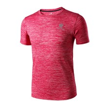 Sport T-Shirt Men Athletic Sports Apparel Quick Dry Fitness Running Gym Training Short Sleeve Tops Tees