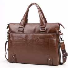 Fashion Good Quality Leather Men's Messenger Bags Man Portfolio Office Bag Quality Travel Shoulder Handbag for Man