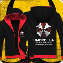 Resident Evil hoodie Cosplay Costume Hooded Jacket Coat Fashion Umbrella Corporation LOGO Unisex Hoodies Sweatshirt Biohazard - Abby Happy Store store