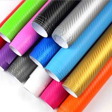 127cm long 3D Carbon Fiber Vinyl Car Wrap Sheet Roll Film Car stickers and Decals Motorcycle Car Styling Accessories Automobiles(China)