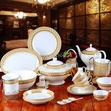 Free shipping 70-piece high-grade bone china tableware suits Jingdezhen china dishes western coffee set(China)