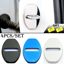 High quality 304 Stainless Steel Door Lock Cover Case For seat leon ibiza altea Alhambra Accessories Car Styling