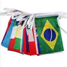 8# String flag 100 countries around the world nations flag small flag , European Cup bar olympic games hanging flags(China)