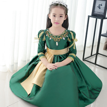 Elegant Sweet Print Floral Princess Kids Dress For Girls High Quality 2017 Fashion Prom Party Toddler Girls Evening Dress P86