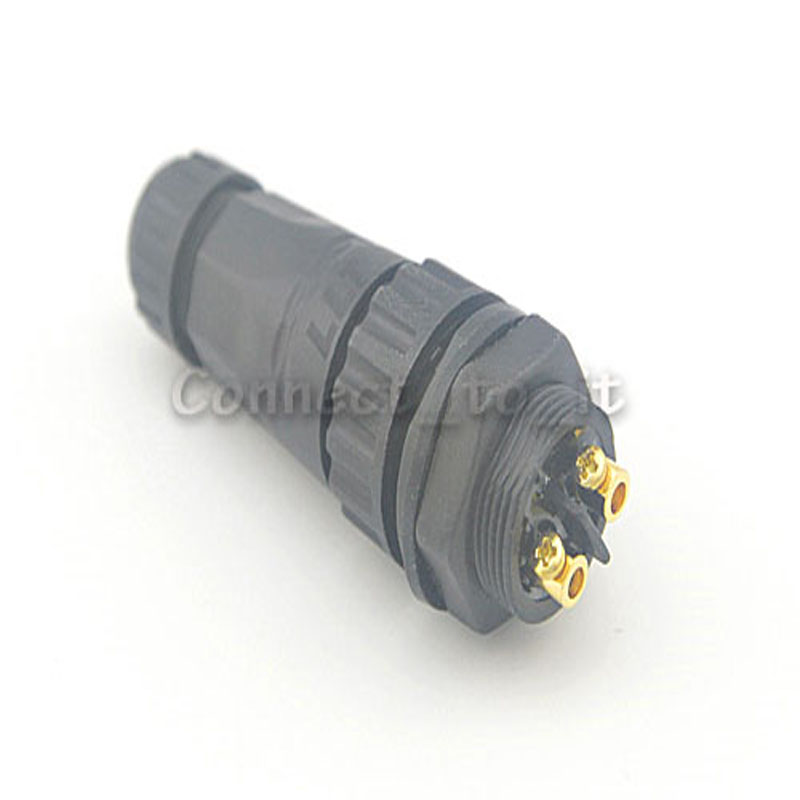 10 sets/lot 2 Pin Screw Lock Cable Waterproof Connector Adapter Male to female Panel Mount Led Light Lamp Contacts Adaptor M22<br><br>Aliexpress