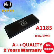 "Wholesale White 55Wh laptop Battery for Apple MacBook 13"" A1185 A1181 MA561 MA561FE/A MA561G/A MA254, Free Shipping"