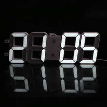 Creative Large Size 3D LED Desk Digital Electronic Wall Clock Living Room Time Display Automatic Light Sensor Clock Desk
