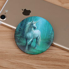 Lucky Cartoon Unicorn Cloth Badge brooch Pin bedge insigne Home Car Home Hat backpack Decor unicorno eenhoorn tek boynuzlu Gift(China)