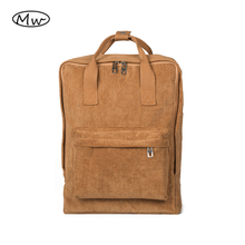 2017 Women Backpack Solid Corduroy Backpack Tote Backpack School Bags For Teenager Girls High Students Bag Casual Travel Bag